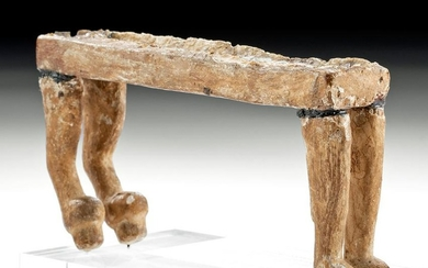 Egyptian Wood & Painted Gesso Funerary Bed Model