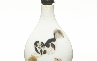 Famille Rose Snuff Bottle with Sheng De Tang Mark