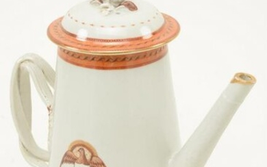 Fine Chinese Export porcelain lighthouse form teapot