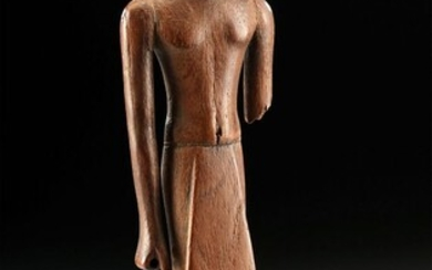 Fine Egyptian 12th Dynasty Wood Standing Dignitary