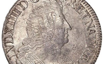 France - Louis XIV - Ecu aux palmes 1693-A (Paris) - Silver