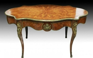 French Inlaid Center Table