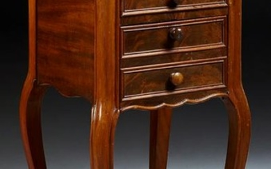 French Louis XV Style Carved Walnut Marble Top