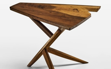 "GEORGE NAKASHIMA | CROSSED-LEG ""CONOID"" TABLE"