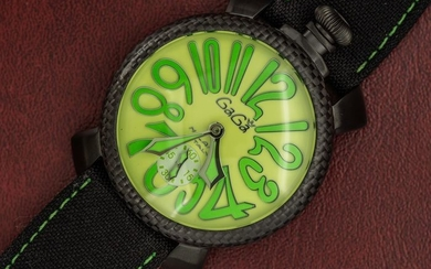 GaGà Milano - Watch Carbon Manuale 48MM Green Limited Edition Swiss Made - 5016 - Men - BRAND NEW