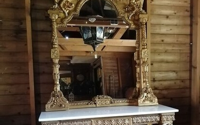 Hall mirror and table