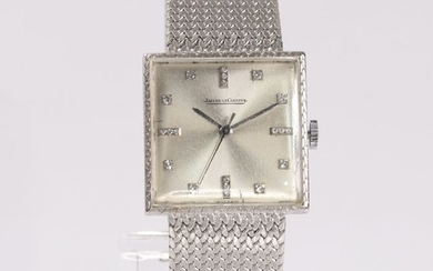 Jaeger-LeCoultre - 18 kt. White gold - Watch, Vintage Retro Early Fifties - 0.20 ct Diamond