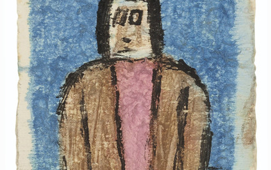 James Castle (1899-1977), Untitled (Female Figure in Coat)