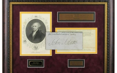 John Adams Boldly Signed Partial Ship's Papers