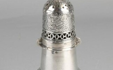 Large silver sugar spreader, 833/000, on round base