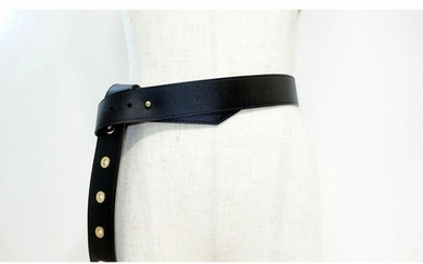 Louis Vuitton Ceinture Black Leather Knot Belt MP146