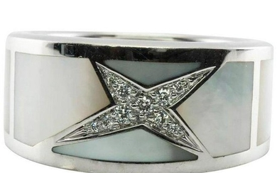 Mauboussin Paris Ring Band Star Diamond Inlaid Mother