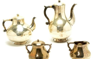 Mexican Conquistador Sterling Silver Tea and Coffee