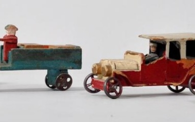 Mixed lot of wooden cars, Erzgebirge