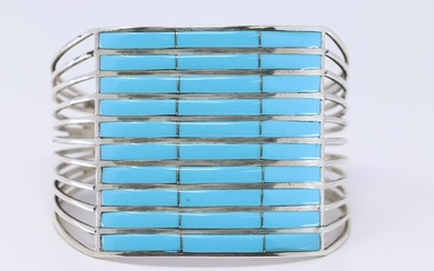Native American Sterling Silver Zuni Handmade by Andrew