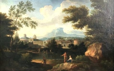 Nicolas POUSSIN (1594-1665) attributed. Arcadian
