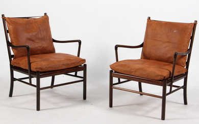 Ole Wanscher. A pair of 'Colonial Chair' lounge chairs, Model PJ 149 (2)
