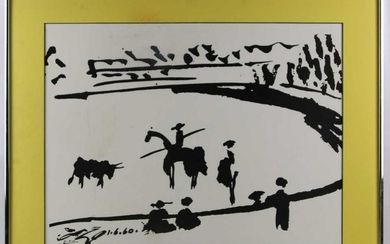 PABLO PICASSO SIGNED AFTER MODERN WORK ON CANVAS