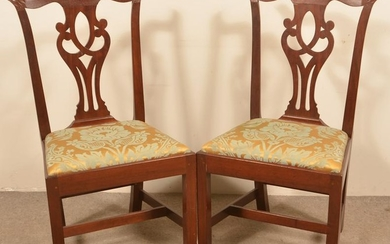 Pair of American Chippendale Mahogany Side Chairs