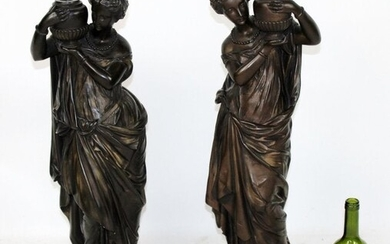 Pair of classical figural candle holders