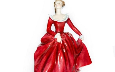 ROYAL DOULTON PROTOTYPE FIGURINE, LADY DANCER IN RED