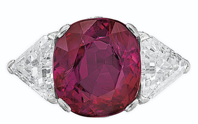 RUBY AND DIAMOND RING, HARRY WINSTON,