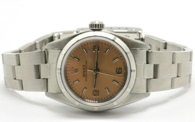 Rolex Pink Dial Stainless Steel Watch