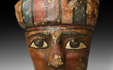Romano-Egyptian Painted Anthropoid Mask
