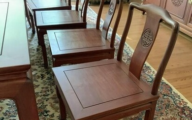 Set 12 Custom Rosewood Dining Chairs,J.L.George&Co