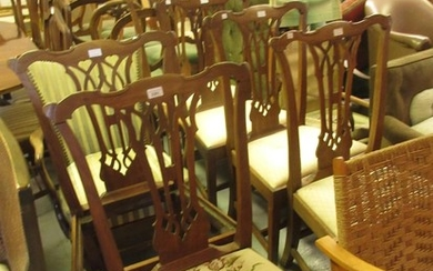 Set of six 19th Century mahogany dining chairs in Georgian s...