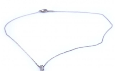Tiffany & Co. Platinum Diamond Jazz Drop Necklace