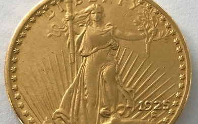 United States - 20 Dollar 1925 - St. Gaudens Double Eagle - Gold