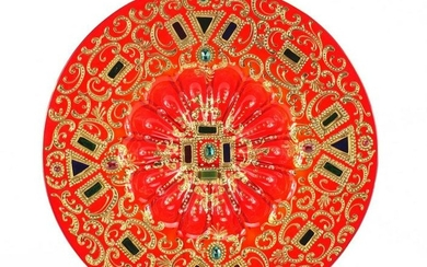 Venetian ruby glass charger made for the Islamic market