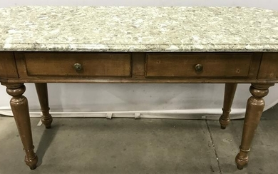 Vintage BLOOMINGDALES Marble Topped Console Table