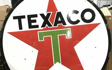 Vintage Metal TEXACO Sign