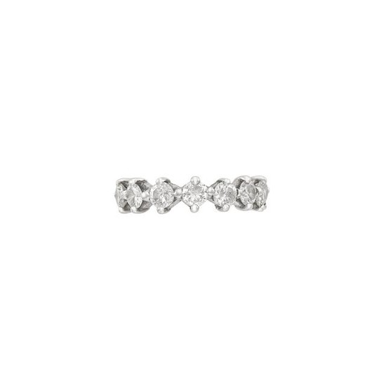 White Gold and Diamond Band Ring