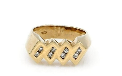 14K Yellow Gold Fancy Diamond Band