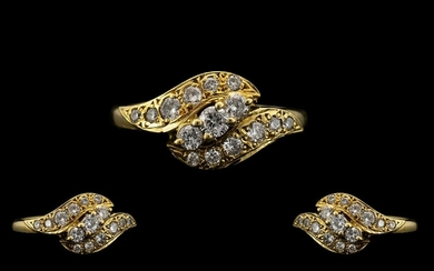 18ct Gold - Attractive and Excellent Quality Diamond Set Dre...