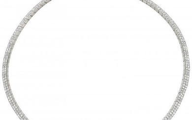 55310: Diamond, White Gold Necklace, Bez Ambar The ne