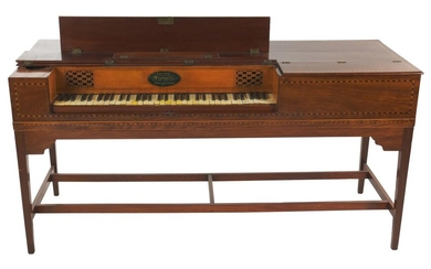 A FINE GEORGE III MAHOGANY SQUARE PIANO BY WILLIAM SOUTHWELL LATE 18TH TO EARLY 19TH CENTURY