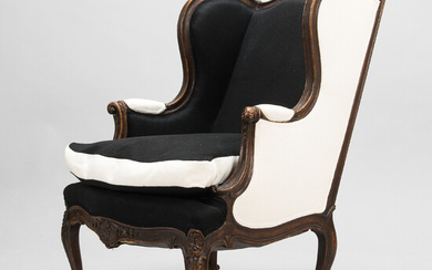 A French, first half of the 20th century Louis XVI style bergère armchair.