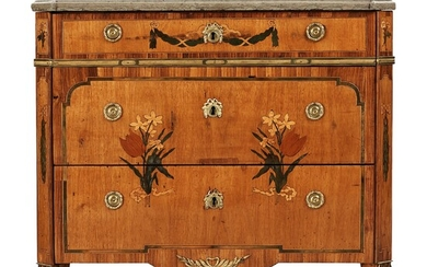 A Gustavian late 18th century commode by J Hultsten, master 1773.