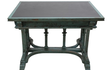 A RARE AUSTRIAN BENTWOOD AND GRANITE TOP WRITING TABLE BY THE KOHN BROS. CIRCA 1930s