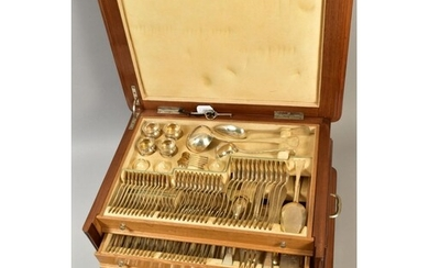 A SECOND HALF 20TH CENTURY WALNUT AND OAK CASED CONTINENTAL ...