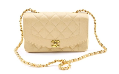 A VINTAGE CLASSIC FLAP BAG BY CHANEL