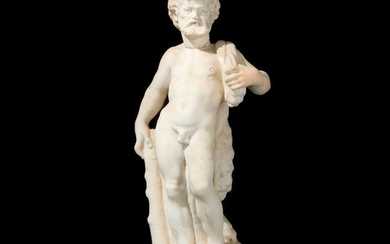 A late 17th-early 18th century white marble sculpture