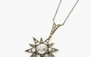A necklace with a star-shaped pendant