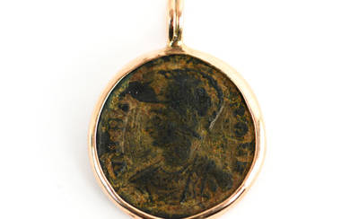 ANCIENT COIN SET IN 14K GOLD