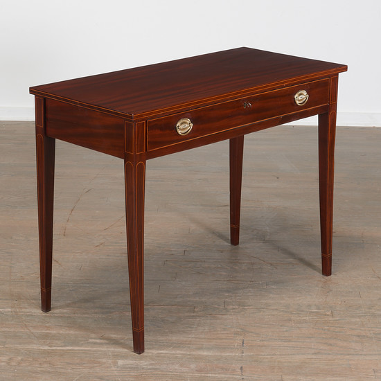 American Federal Inlaid Mahogany Side Table