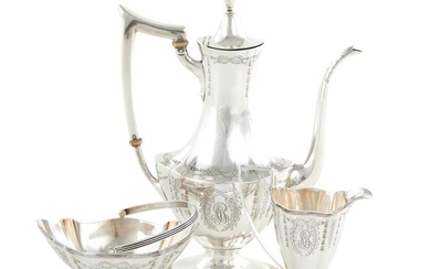 American sterling silver three-piece coffee service, Black, Starr & Frost (3pcs)